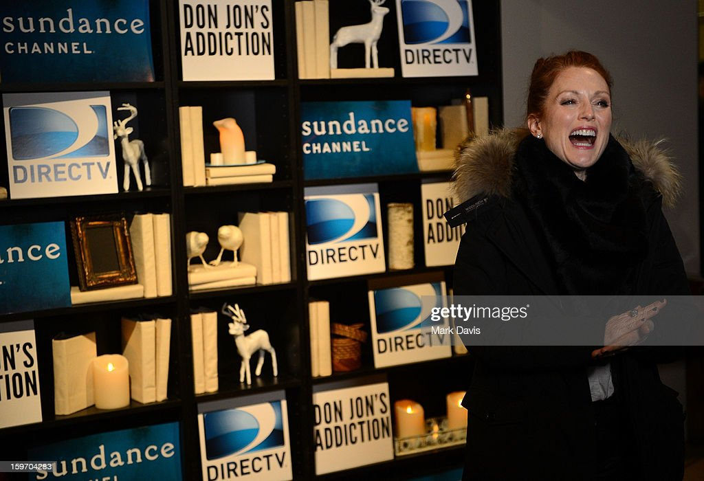 Actress <a gi-track='captionPersonalityLinkClicked' href=/galleries/search?phrase=Julianne+Moore&family=editorial&specificpeople=171555 ng-click='$event.stopPropagation()'>Julianne Moore</a> attends the 'Don Jon's Addiction' premiere party hosted by DirecTV and Sundance Channel on January 18, 2013 in Park City, Utah.