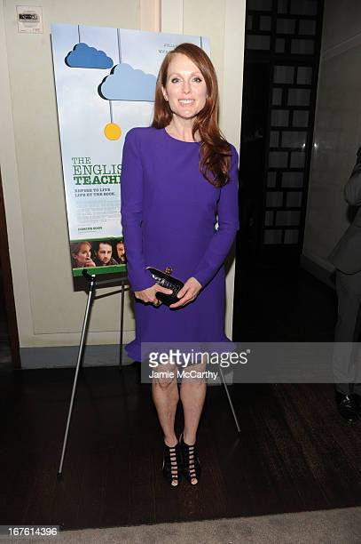 Actress Julianne Moore attends 'The English Teacher' After Party during the 2013 Tribeca Film Festival on April 26 2013 in New York City