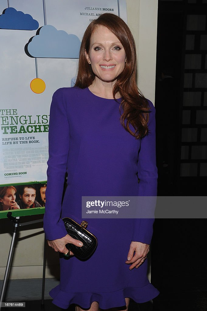 Actress <a gi-track='captionPersonalityLinkClicked' href=/galleries/search?phrase=Julianne+Moore&family=editorial&specificpeople=171555 ng-click='$event.stopPropagation()'>Julianne Moore</a> attends 'The English Teacher' After Party during the 2013 Tribeca Film Festival on April 26, 2013 in New York City.