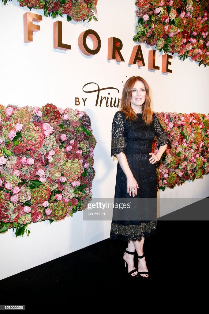 US actress Julianne Moore attends the Florale By Triumph Dinner Hosted By Julianne Moore Dinner at Altes Stadthaus on October 5, 2017 in Berlin, Germany.