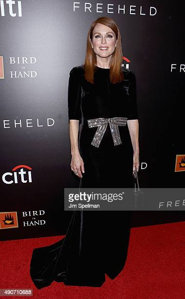 Actress Julianne Moore attends the 'Freeheld' New York premiere at Museum of Modern Art on September 28 2015 in New York City