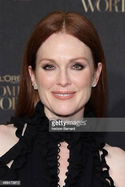 Actress Julianne Moore attends the L'Oreal Paris Women of Worth 2015 Celebration Arrivals at The Pierre Hotel on December 1 2015 in New York City