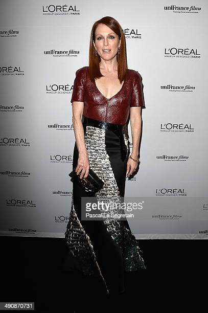 Actress Julianne Moore attends the L'Oreal Unifrance Films 65th Anniversary Cocktaill at Hotel Martinez as part of the 67th Annual Cannes Film...