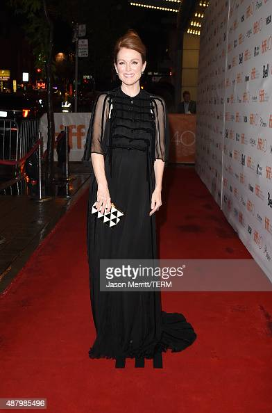 Actress Julianne Moore attends the 'Maggie's Plan' premiere during the 2015 Toronto International Film Festival at the Princess of Wales Theatre on...