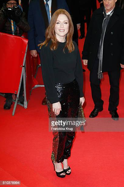 Actress Julianne Moore attends the 'Maggie's Plan' premiere during the 66th Berlinale International Film Festival Berlin at FriedrichstadtPalast on...
