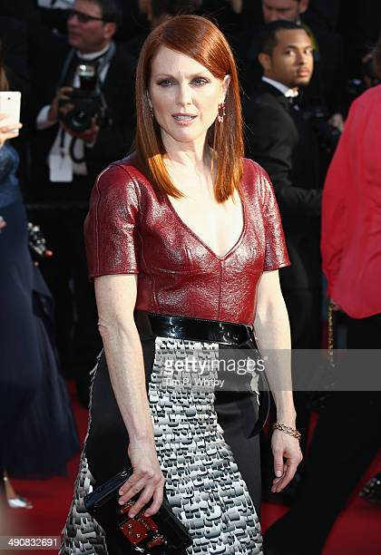 Actress Julianne Moore attends the 'Mr Turner' premiere during the 67th Annual Cannes Film Festival on May 15 2014 in Cannes France