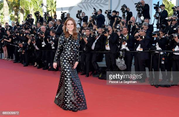 Actress Julianne Moore attends the 'Okja' screening during the 70th annual Cannes Film Festival at Palais des Festivals on May 19 2017 in Cannes...