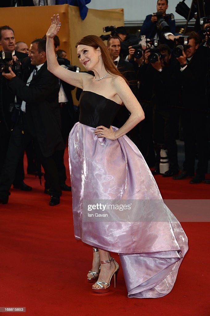 Actress Julianne Moore attends the Opening Ceremony and 'The Great Gatsby' Premiere during the 66th Annual Cannes Film Festival at the Theatre Lumiere on May 15, 2013 in Cannes, France.