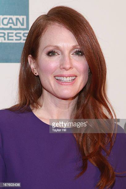 Actress Julianne Moore attends the screening of 'The English Teacher' during the 2013 Tribeca Film Festival at BMCC Tribeca PAC on April 26 2013 in...