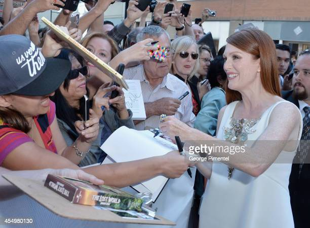 Actress Julianne Moore attends the 'Still Alice' premiere during the 2014 Toronto International Film Festival at Winter Garden Theatre on September 8...