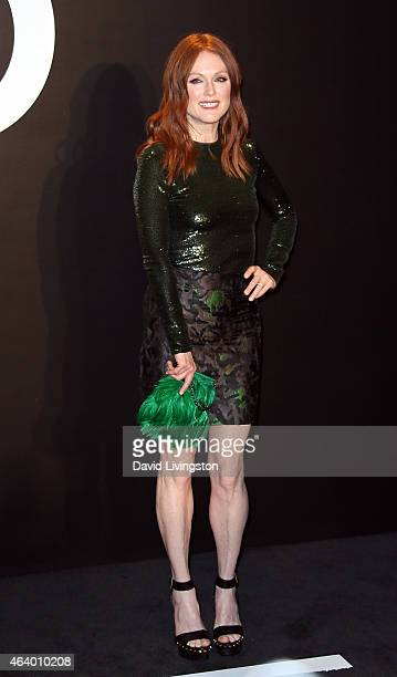 Actress Julianne Moore attends the Tom Ford Autumn/Winter 2015 Womenswear Collection presentation at Milk Studios on February 20 2015 in Hollywood...