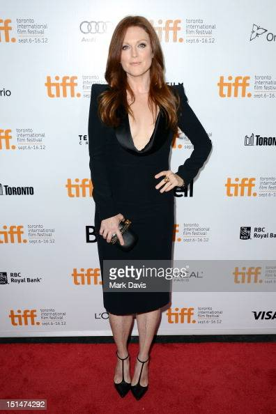Actress Julianne Moore attends the 'What Maisie Knew' premiere during the 2012 Toronto International Film Festival at Roy Thomson Hall on September 7...