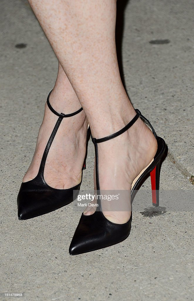 Actress Julianne Moore (shoe detail) attends the 'What Maisie Knew' premiere during the 2012 Toronto International Film Festival at Roy Thomson Hall on September 7, 2012 in Toronto, Canada.