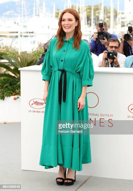 Actress Julianne Moore attends 'Wonderstruck' Photocall during the 70th annual Cannes Film Festival at Palais des Festivals on May 18 2017 in Cannes...