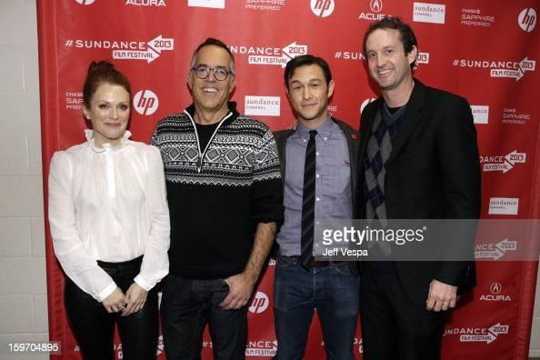 Actress Julianne Moore Director of the Sundance Film Festival John Cooper actor/director Joseph GordonLevitt and Sundance Film Festival Director of...