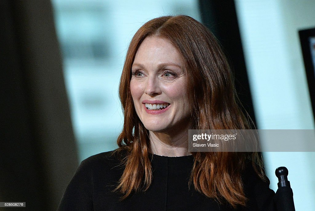Actress Julianne Moore discusses her new movie ''Maggies Plan' at AOL Build at AOL Studios In New York on May 5, 2016 in New York City.