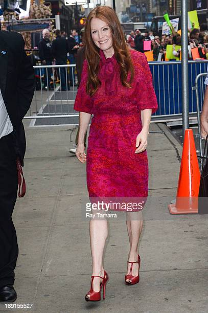 Actress Julianne Moore enters the 'Good Morning America' taping at the ABC Times Square Studios on May 20 2013 in New York City