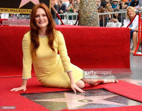 Actress Julianne Moore is honored with a star on the Hollywood Walk of Fame on October 3 2013 in Hollywood California