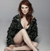 Actress Julianne Moore is photographed for Madame Figaro on February 17 2014 in Paris France Jacket swimsuit ring Makeup by L'Oreal Paris PUBLISHED...