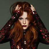 Actress Julianne Moore is photographed for Madame Figaro on February 17 2014 in Paris France Dress ring Makeup by L'Oreal Paris CREDIT MUST READ Driu...
