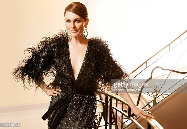 Actress Julianne Moore is photographed for Vanity Fair Italy on May 15 2015 in Cannes France Make up by L'Oreal Paris