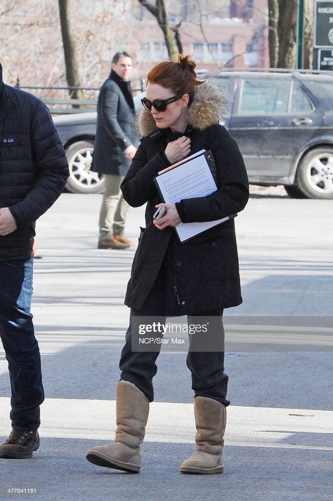 Actress Julianne Moore is seen on March 6, 2014 in New York City.