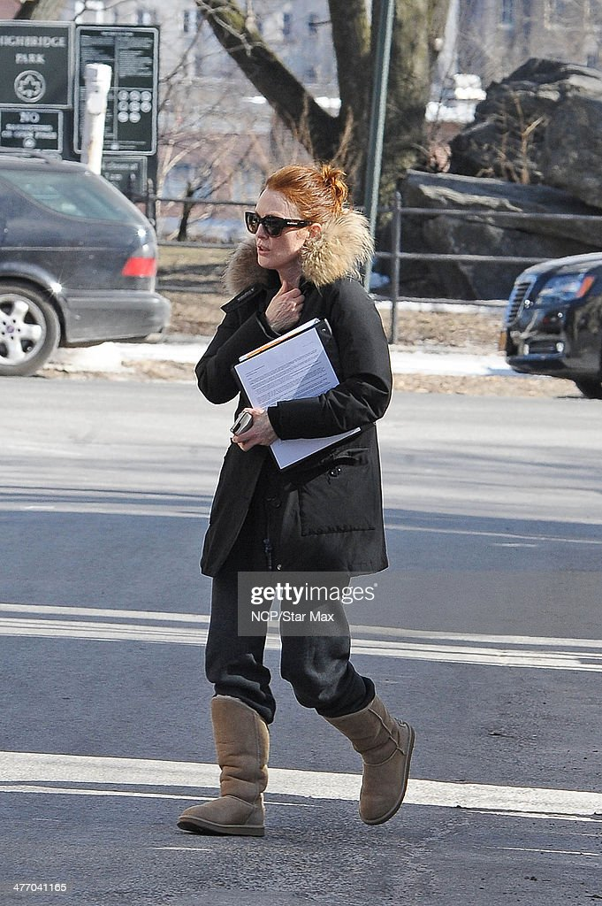 Actress <a gi-track='captionPersonalityLinkClicked' href=/galleries/search?phrase=Julianne+Moore&family=editorial&specificpeople=171555 ng-click='$event.stopPropagation()'>Julianne Moore</a> is seen on March 6, 2014 in New York City.