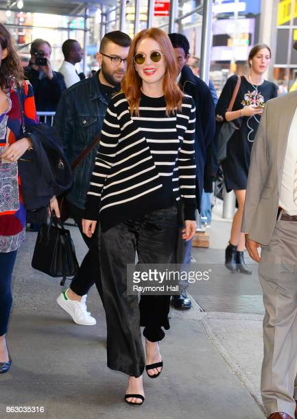 Actress Julianne Moore is seen outside 'Good Morning America' on October 19 2017 in New York City