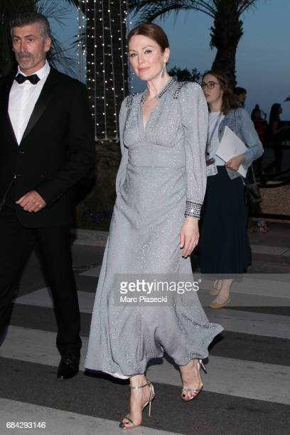 Actress Julianne Moore is spotted during the 70th annual Cannes Film Festival on May 17 2017 in Cannes France