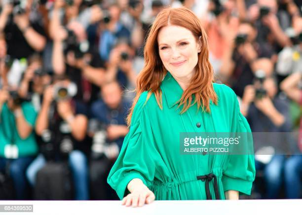 US actress Julianne Moore poses on May 18 2017 during photocall for the film 'Wonderstruck' at the 70th edition of the Cannes Film Festival in Cannes...