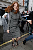 Actress Julianne Moore seen arriving at the BBC Radio 2 Studios on February 12 2016 in London England