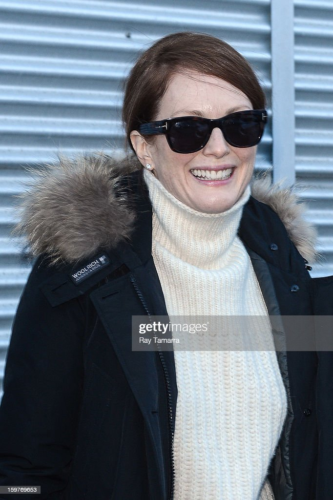 Actress Julianne Moore walks in Park City on January 19, 2013 in Park City, Utah.