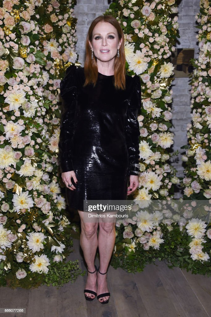 Actress Julianne Moore, wearing John Hardy jewelry, attends John Hardy And Vanity Fair Celebrate Legends at Le Coucou on October 24, 2017 in New York City.