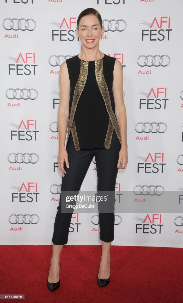 Actress <a gi-track='captionPersonalityLinkClicked' href=/galleries/search?phrase=Julianne+Nicholson&family=editorial&specificpeople=757237 ng-click='$event.stopPropagation()'>Julianne Nicholson</a> arrives at the AFI FEST 2013 Gala Screening of 'August: Osage County' at TCL Chinese Theatre on November 8, 2013 in Hollywood, California.