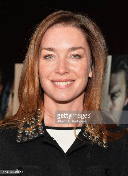 Actress Julianne Nicholson attends a screening of Sundance Channel's 'The Red Road' at The Bronson Caves at Griffith Park on February 24 2014 in Los...