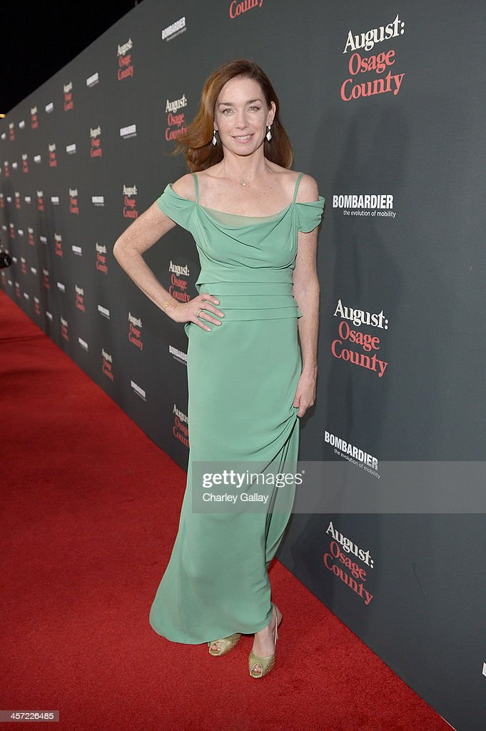 Actress <a gi-track='captionPersonalityLinkClicked' href=/galleries/search?phrase=Julianne+Nicholson&family=editorial&specificpeople=757237 ng-click='$event.stopPropagation()'>Julianne Nicholson</a> attends the LA premiere Of 'August: Osage County' presented by The Weinstein Company in partnership with Bombardier at Regal Cinemas L.A. Live on December 16, 2013 in Los Angeles, California.