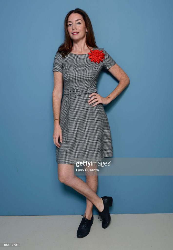 Actress <a gi-track='captionPersonalityLinkClicked' href=/galleries/search?phrase=Julianne+Nicholson&family=editorial&specificpeople=757237 ng-click='$event.stopPropagation()'>Julianne Nicholson</a> of 'August: Osage County' poses at the Guess Portrait Studio during 2013 Toronto International Film Festival on September 10, 2013 in Toronto, Canada.