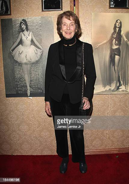 Actress Julie Adams attends Carla Laemmle's 103rd birthday celebration at The Silent Movie Theater on October 20 2012 in Los Angeles California