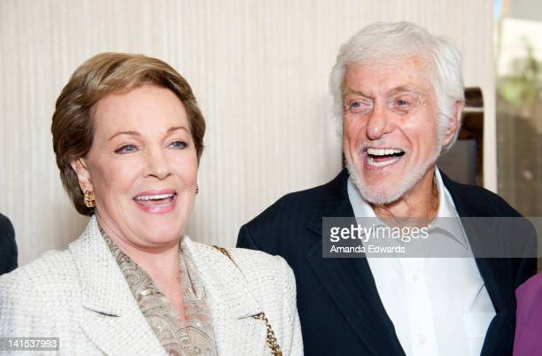 Actress Julie Andrews and actor Dick Van Dyke arrive at the Professional Dancers Society Presents Gypsy Award To Julie Andrews at The Beverly Hilton...
