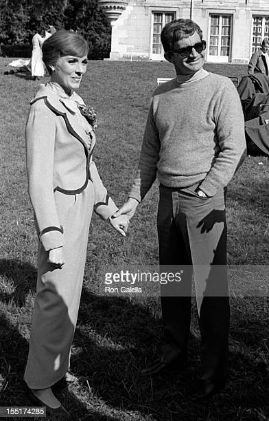 Actress Julie Andrews and director Blake Edwards sighted on location filming 'Darling Lili' on September 27 1968 in Paris France
