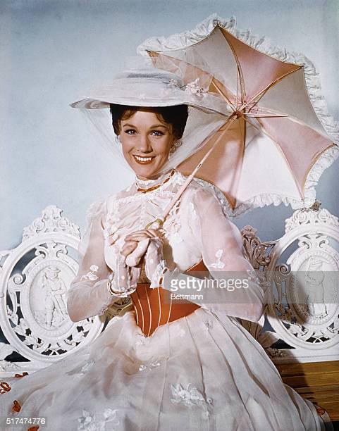 Actress Julie Andrews appears in the title role of the musicalfantasy Mary Poppins the whimsical story of an English nanny and her marvelous magical...