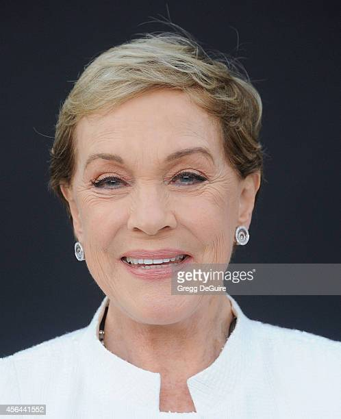 Actress Julie Andrews arrives at The Los Angeles Philharmonic Opening Night Concert And Gala at Walt Disney Concert Hall on September 30 2014 in Los...