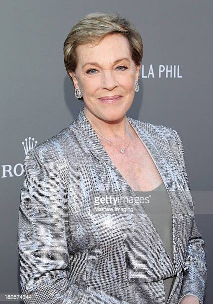 Actress Julie Andrews arrives at the Los Angeles Philharmonic's 10th Anniversary Celebration at Walt Disney Concert Hall on September 30 2013 in Los...
