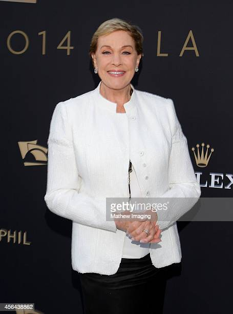 Actress Julie Andrews attends Los Angeles Philharmonic's Walt Disney Concert Hall Opening Night Gala on September 30 2014 in Los Angeles California