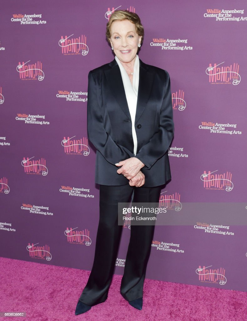 Actress Julie Andrews attends Mancini Delivered - A Musical Tribute to Ginny and Henry Mancini at Wallis Annenberg Center for the Performing Arts on April 1, 2017 in Beverly Hills, California.