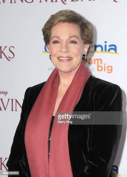 Actress Julie Andrews attends the premiere of 'Saving Mr Banks' on December 9 2013 at Walt Disney Studios in Burbank California