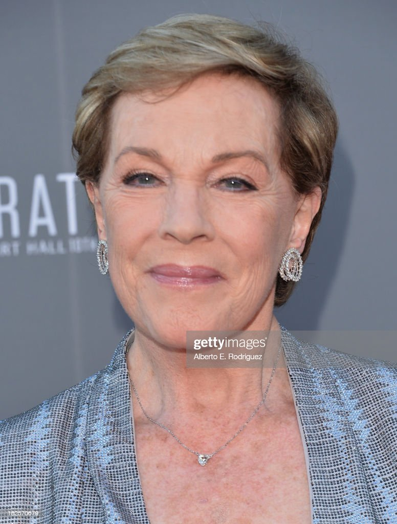 Actress <a gi-track='captionPersonalityLinkClicked' href=/galleries/search?phrase=Julie+Andrews&family=editorial&specificpeople=93639 ng-click='$event.stopPropagation()'>Julie Andrews</a> attends the Walt Disney Concet Hall's 10th Anniversary Gala at the Walt Disney Concert Hall on September 30, 2013 in Los Angeles, California.