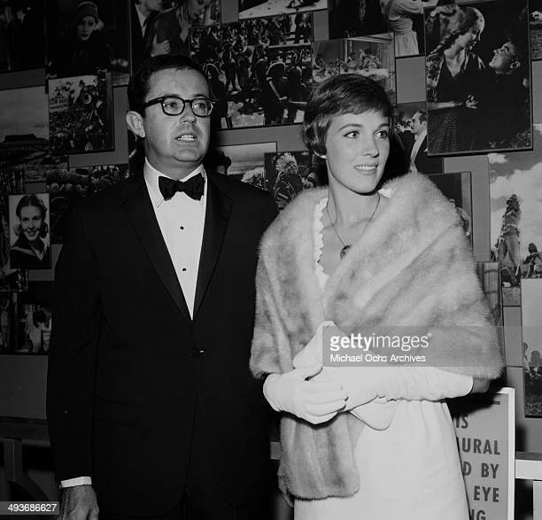 Actress Julie Andrews with guest attend a premiere in Los Angeles California