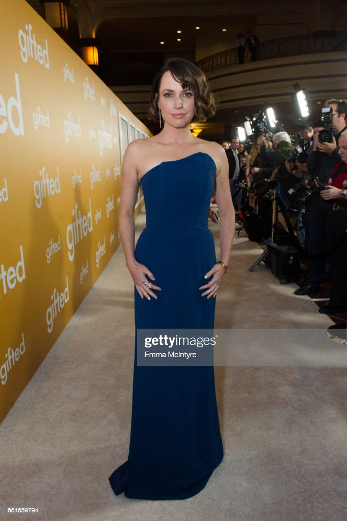 Actress Julie Ann Emery arrives at the premiere of Fox Searchlight Pictures' 'Gifted' at Pacific Theaters at the Grove on April 4, 2017 in Los Angeles, California.