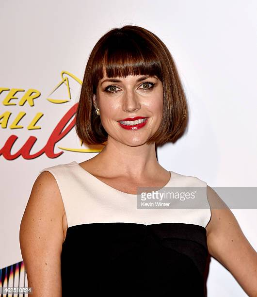 Actress Julie Ann Emery arrives at the series premiere of AMC's 'Better Call Saul' at the Regal Cinemas LA Live on January 29 2015 in Los Angeles...